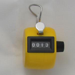 Klikacz ręczny, profesjonalny, z tworzywa ABS, żółty MMC4ABS YW