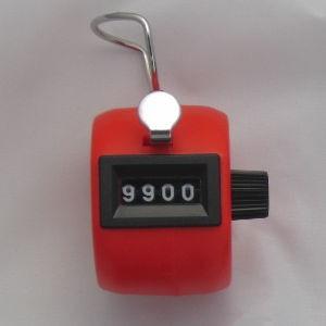 Klikacz ręczny, profesjonalny, z tworzywa ABS, czerwony MMC4ABS RD