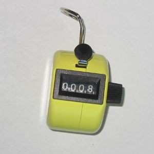 Klikacz ręczny, profesjonalny, stalowy, żółtyi MMC3 YW